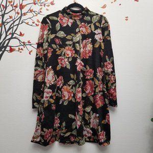 SPRING HAZE Los Angeles Floral Mock Neck Dress